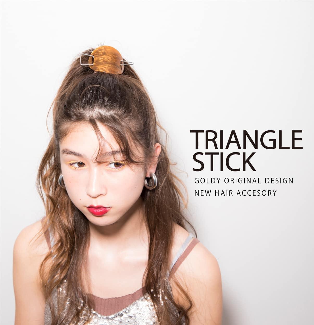 Triangle Stick Goldy Original Design New Hair Accesory